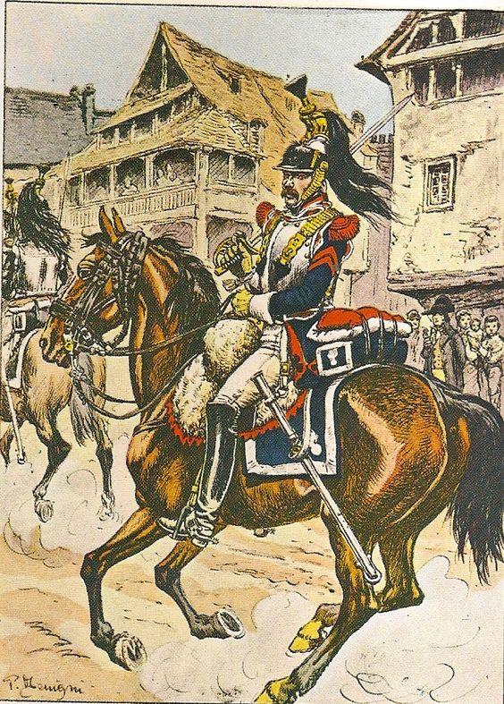Corazziere in grande uniforme del 3 reggimento corazzieri francese