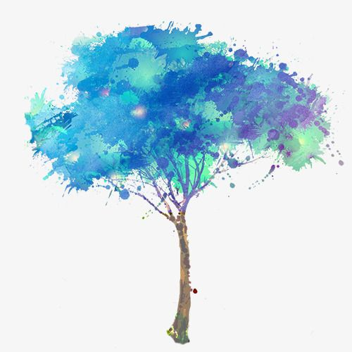 Blue Watercolor Tree Watercolor Clipart Tree Clipart Trees Png Transparent Clipart Image And Psd File For Free Download Watercolor Tree Blue Watercolor Watercolor Trees