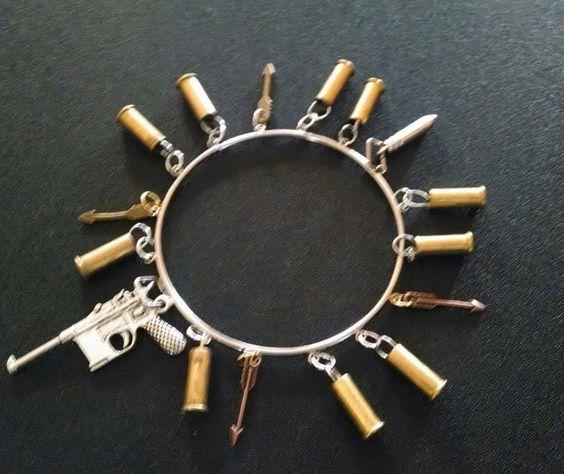 Bullet charm bracelet by RepurposedRounds on Etsy https://www.etsy.com/listing/265854695/bullet-charm-bracelet