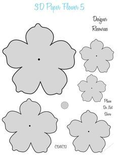 Here Is A Cute Series Of 3d Paper Flower Templates These Can Be