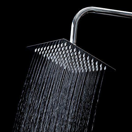 12 Inch  Stainless Steel Rain Shower Head Rainfall Bathroom  Sprayer US