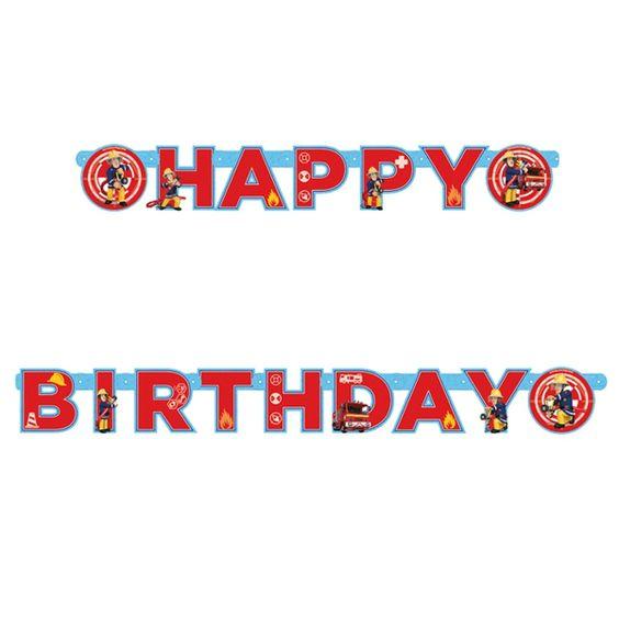 Geburtstagsbanner-Feuerwehrmann-Sam-Partydekoration-Kindergeburtstag-Fireman-Sam