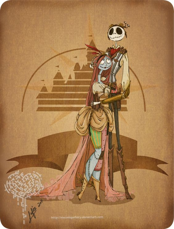 Steampunk Jack and Sally.