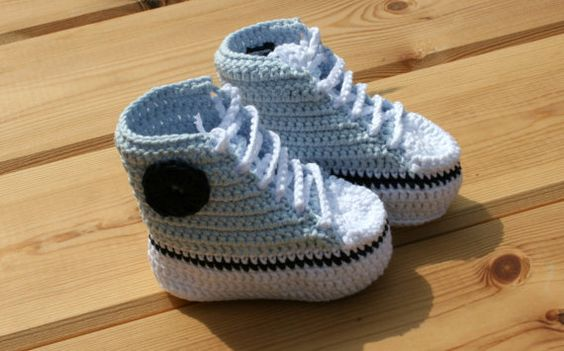 Pure cotton Newborn baby crochet booties ❤ by crochetyknitsnbits, £11.99