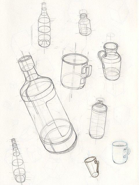 Basic Bleistift Bottle Drawings Skizzen Skizzen Bleistift Basic Bottle Drawings Skizzen Bleistift Basic In 2020 Bottle Drawing Basic Sketching Basic Drawing
