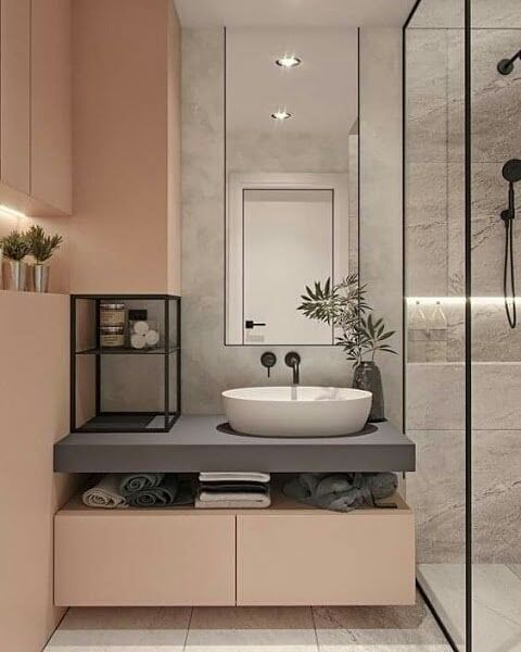 Pin By Renata Campos On دورات مياه مودرن Modern Bathroom Layouts Modern Bathroom Design Contemporary Bathroom Designs