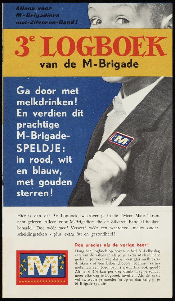 Ere-brigade M-brigadiers; Melkbrigade 3e M-logboek; logboek 1961; smulhuis voor kinderen; cadeaulijst;: