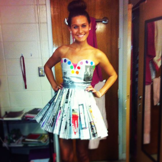 Anything But Clothes... ABC Theme News Paper Dress- made ...