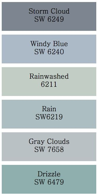 Storm cloud and gray clouds hmmm those would look for Gray blue exterior paint colors