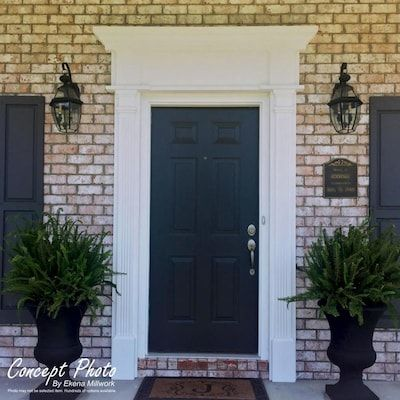 Ekena Millwork Pvc Pilaster 6 In X 108 Ft Pvc Pilaster Entry Door Casing Accent Lowes Com In 2020 Brick Exterior House Exterior Door Frame Colonial House Exteriors