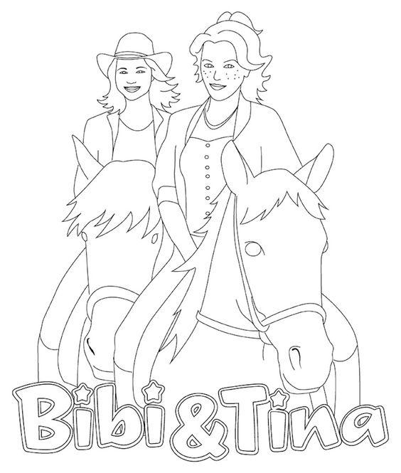 ausmalbilder bibi und tina  ausmalbilder coloring pages