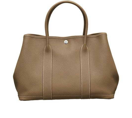 price of hermes birkin bag - Hermes-GARDEN PARTY -Taupe negonda leather with chevron canvas ...