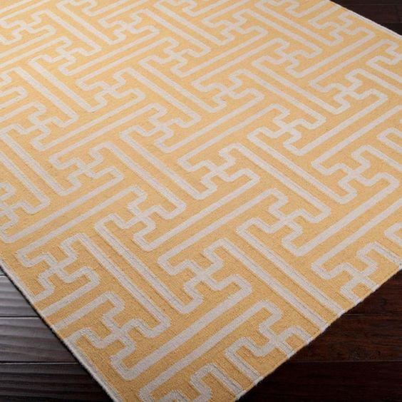 Grecian Maze Dhurrie Rug: 10 Colors  |  shadesoflight.com