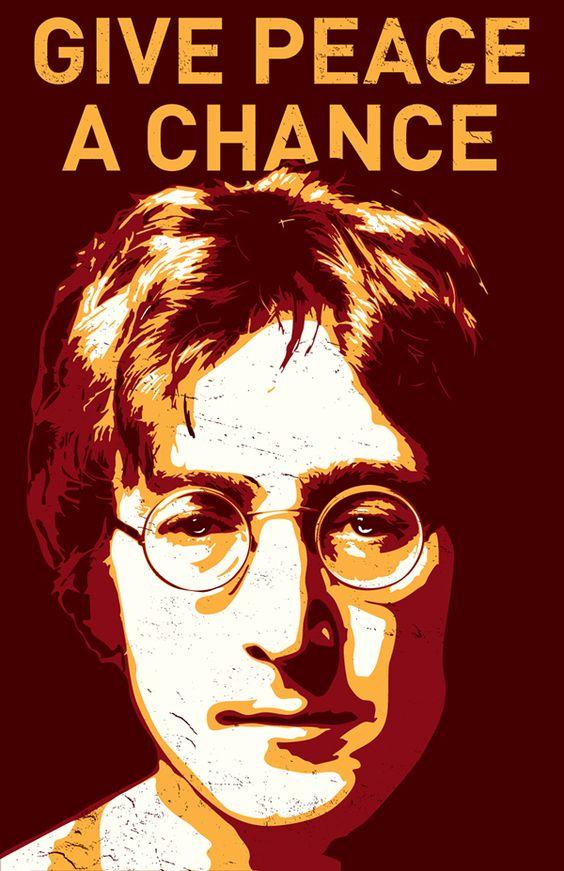 John Lennon Study - Give Peace A Chance on Behance