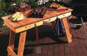 portable grill table