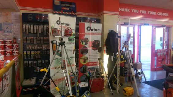 Tool Morning at Buildbase Aylesbury, demonstrating Datum products including levels, laser and cable location equipment