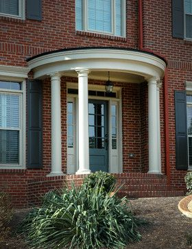 Semi circular porticos design ideas pictures remodel and - Colonial house exterior renovation ideas ...