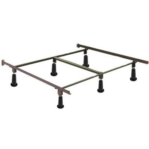 cal king high rise metal bed frame w headboard footboard brackets