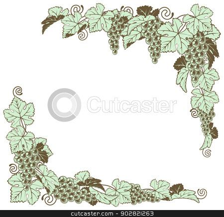 Vector of Grape vine border design | Grape Vine Art ...