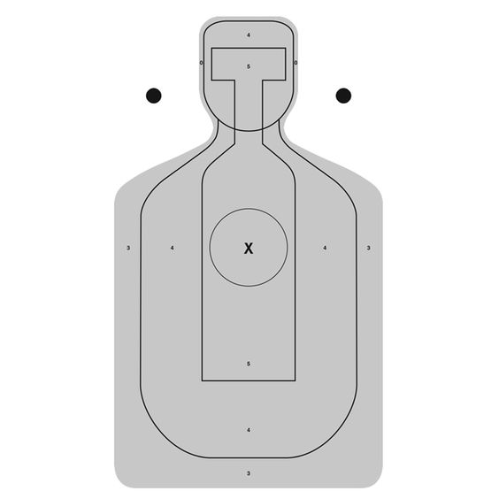 """ACSO-99 Alameda County Center mass Silhouette Qualification Target. Gray Size:23"""" x 35"""" ."""