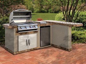 L shaped bbq island plans google search outdoor for Outdoor kitchen bbq for sale