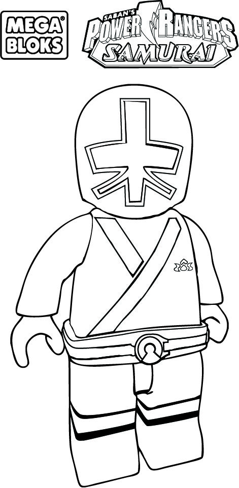 Red power ranger coloring mask coloring pages for Samurai rangers coloring pages