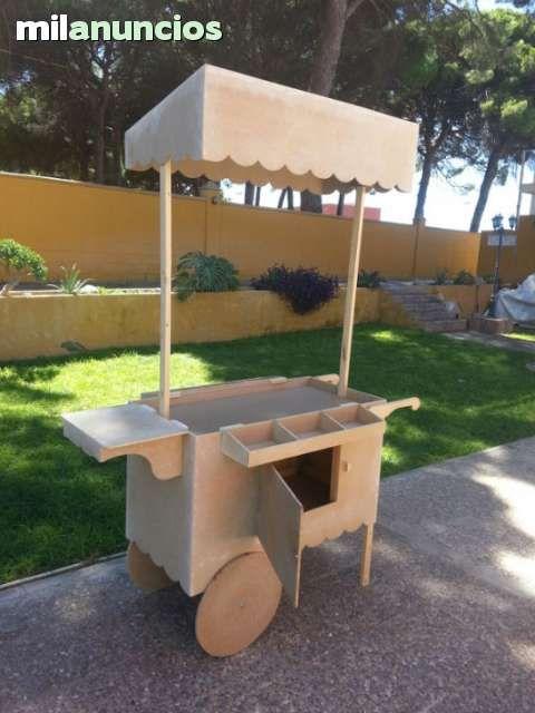 Carrito de madera candybar para la terraza proyecto for Mesa carro bar madera