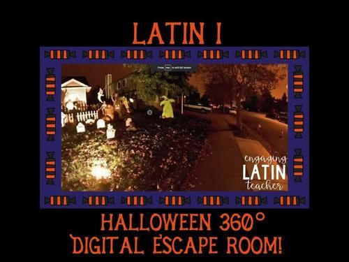 Halloween Escape Room Digital Escape For Level 1 Latin Latin Latin Activities Teachers Halloween