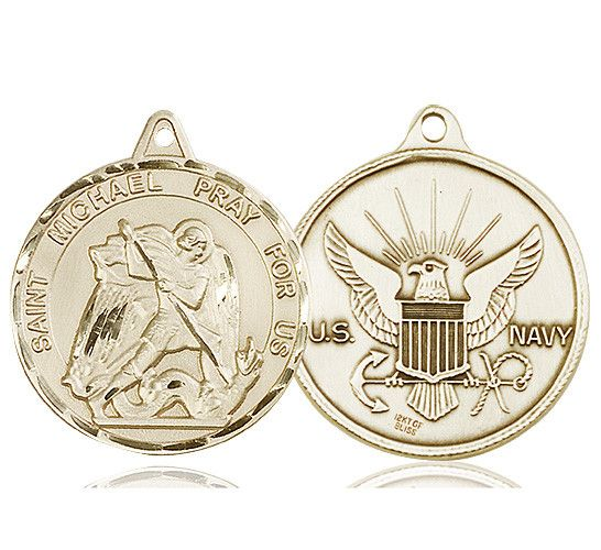 St. Michael Medal (14kt Gold) by Bliss | Catholic Shopping .com