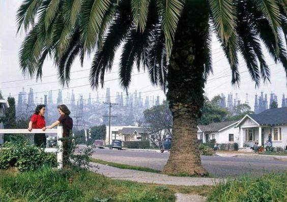 Los Angeles oil wells, June 1941