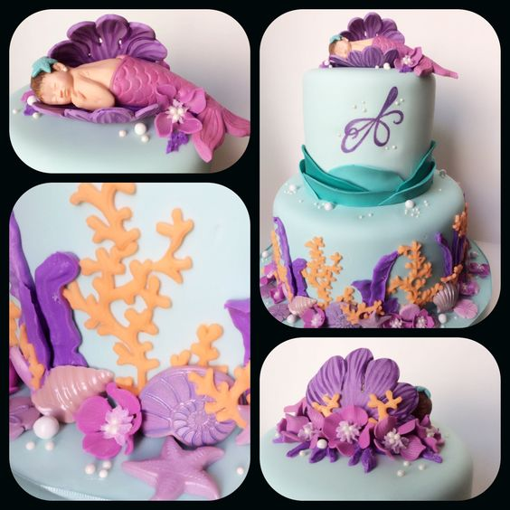 baby shower cakes mermaid shower girl baby shower mermaid cakes baby