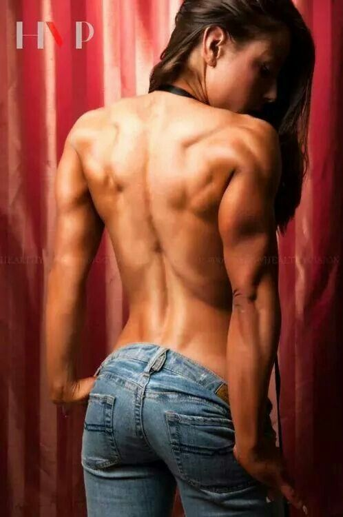 back Women muscles bodybuilder
