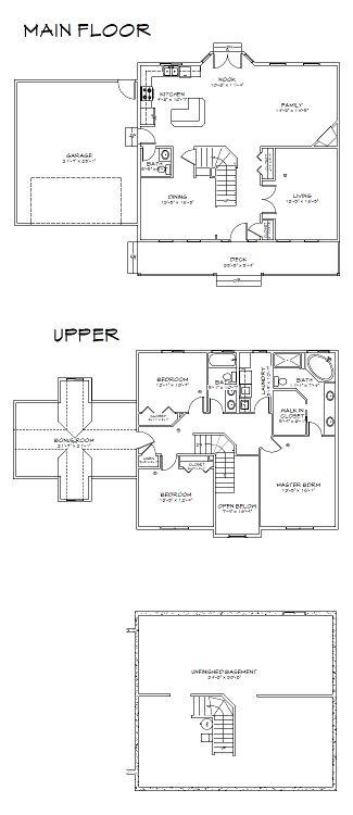 The Ash floor plans.