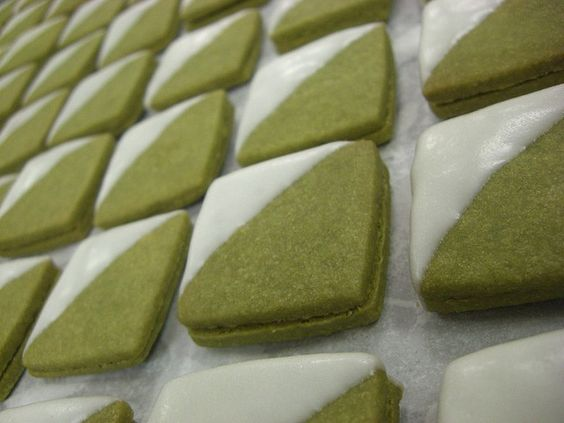 Green tea sandwich cookies!