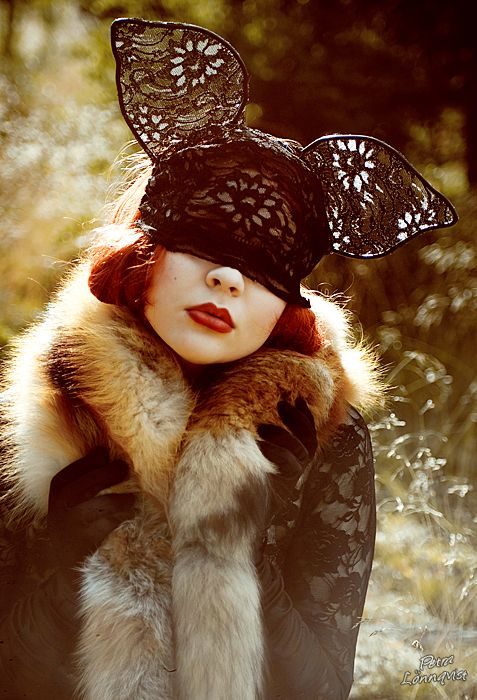 Photographer:  Petra Lönnqvist: Animal Hats, Fashion Avatar, Lace Masks, Mad Hatters, Awesome Photos, Fashion Accessories, Be Awesome