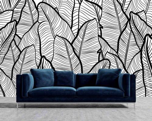 The Black Home X Verna Fogg Peel Stick Mural Wallpaper The Black Home Black House Mural Wallpaper Wallpaper