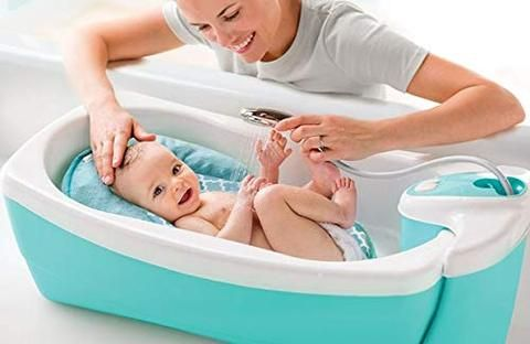 Newborn Infant Baby To Toddler Bath Tub Whirlpool Bubbles Spa
