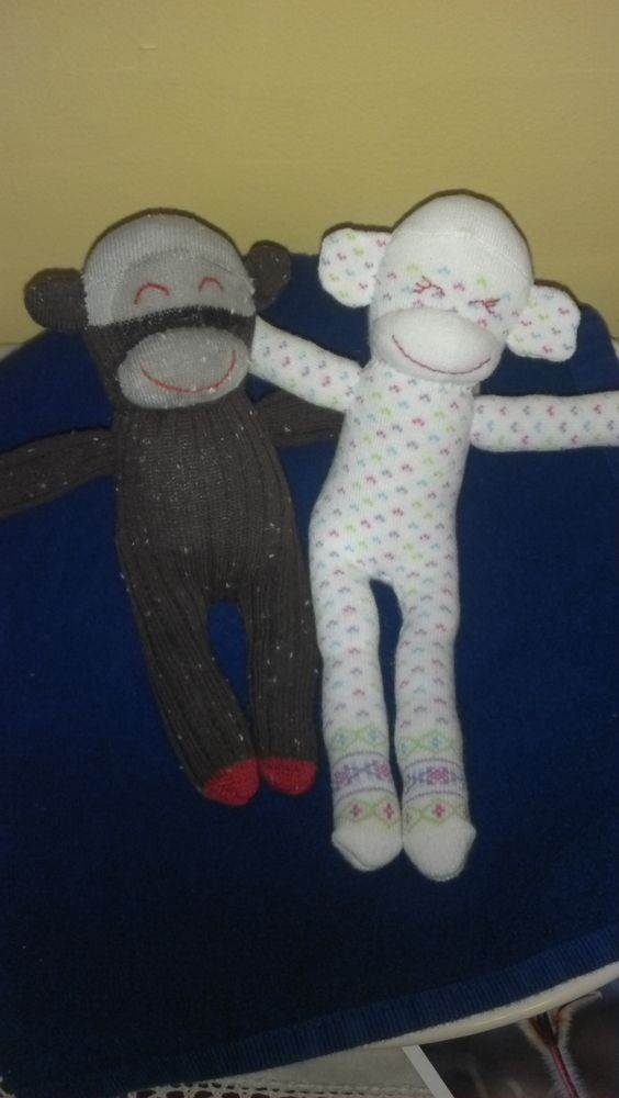 Baby sock monkeys: