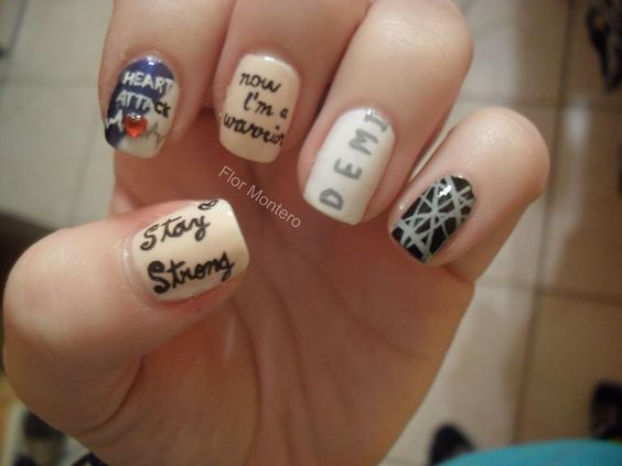 Lyric Nail Art