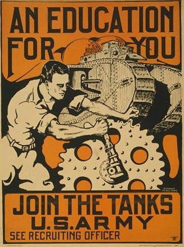 Tank poster- U.S. Army recruiting