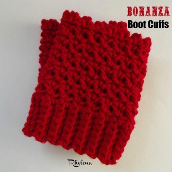 The Bonanza Boot Cuffs Free Crochet Pattern Crochet Away