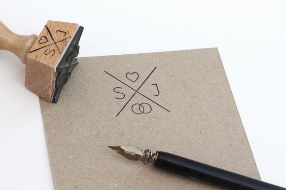 wedding stamp | Stempel zurm Hochzeit mit Monogramm und Herz von inLiebe Papeterie www.inLiebe-papeterie.de