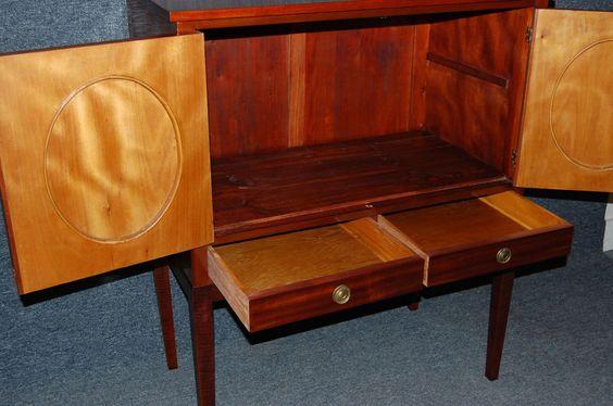 Swedish Mahogany Inlaid Bar / Storage Cabinet image 9