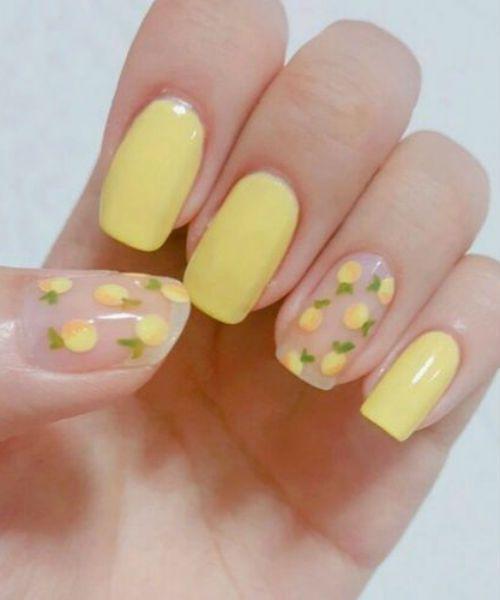 Splendid Yellow Nail Art Designs For Girls To Inspire Everyone Styles Beat Lemon Nails Yellow Nails Yellow Nail Art