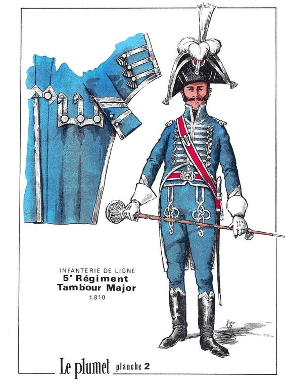 Tamburo maggiore del 5 rgt. fanteria di linea francese