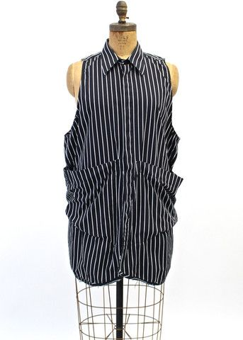 night stripe smock