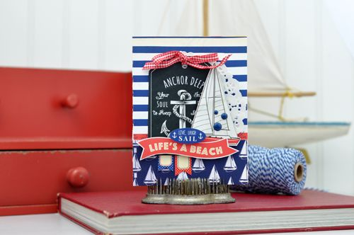 Yacht Club Card by Jen Gallacher for Carta Bella Paper:
