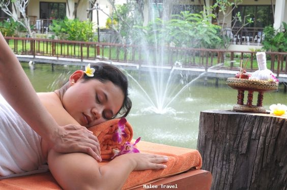 Girl at spa in Railay Resort and Spa