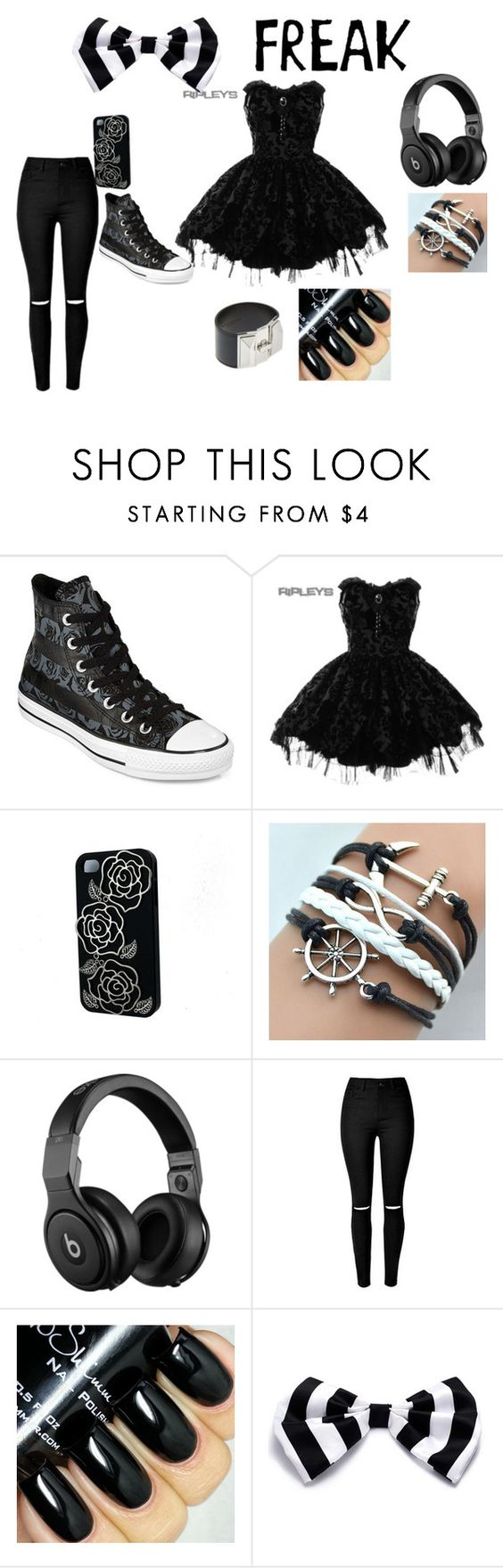 me8 riaha by stargazzer24 on Polyvore featuring Hell Bunny, Converse, Yves Saint Laurent, Beats by Dr. Dre, women's clothing, women's fashion, women, female, woman and misses