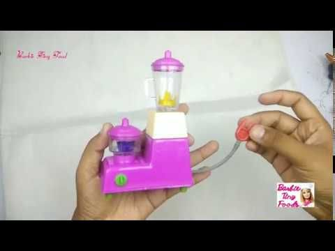 New Mini Mixer Grinder For Kids Pretend Play With Kitchen Set Barbie Barbie Kitchen Set Kids Pretend Play Barbie Kitchen